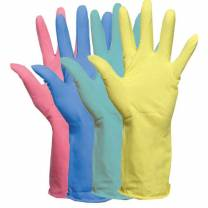 Household Glove Blue Large