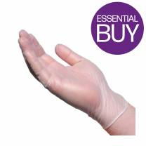 Clear Vinyl Glove Powder Free Medium (x100)