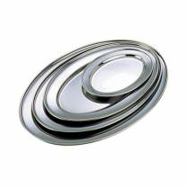 Stainless Steel Oval Flat 9in