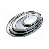 Stainless Steel Oval Flat 8in