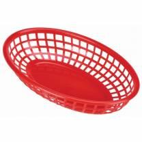 Fastfood Basket Red 23.5x15.4cm (x6)