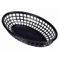 Fast Food Basket Black 23.5x15.4cm (x6)