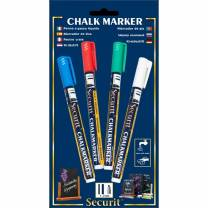 Chalkmarkers Red/Green/White/Blue (Small)
