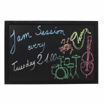 Wall Chalk Board  80x60cm  Black lacquered