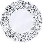 Doilies 25cm Round White (x2000)