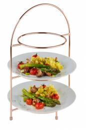 Copper 3 Tier Cake Stand (Max. 27cm Plate)