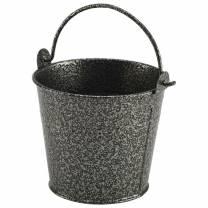 Galvanised Steel Hammered Serving Bucket 10cm Silver (x12)