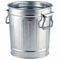 Galvanised Mini Bin 14x12x15cm (x12)