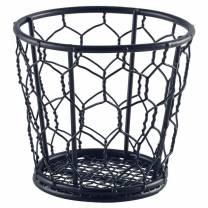 Black Wire Basket 10cm Ø (x6)