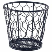 Black Wire Basket 12cm Ø (x6)
