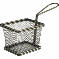 Black Serving Fry Basket 10 x 8 x 7.5cm (x6)