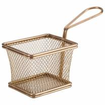 Copper Serving Fry Basket 10 x 8 x 7.5cm (x6)