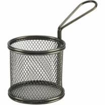 Black Serving Fry Basket 9.3 x 9cm (x6)