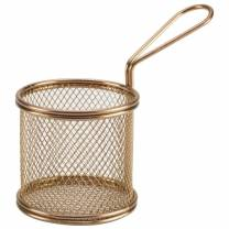 Copper Serving Fry Basket 9.3 x 9cm (x6)