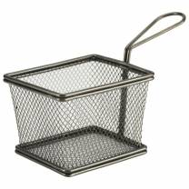 Black Serving Fry Basket 12.5 x 10 x 8.5cm (x6)