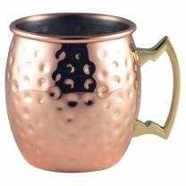 Copper Barrel Mug 40cl/14oz Hammered