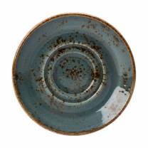 Craft Blue Saucer Double Well 14.5cm (x36)