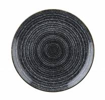 Studio Prints Charcoal Black Coupe Plate 28.8cm (x12)