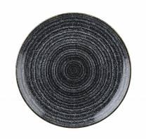 Studio Prints Charcoal Black Coupe Plate 16.5cm (x12)