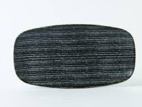 Studio Prints Charcoal Black Chefs' Oblong Plate No.4  35.5x18.9cm (x6)