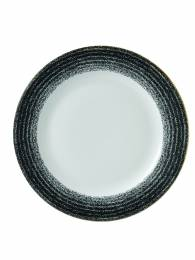 Studio Prints Charcoal Black Rimmed Plate 26.1cm (x12)