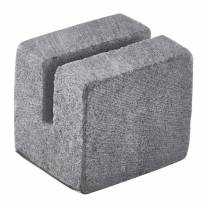 Mini Cube Sign Holder Grey Marble 3 x 2.5 x 2.5cm