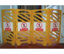 Safety Barrier Sign (x3 Pair)