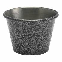 2.5oz Stainless Steel Ramekin Hammered Silver (x24)