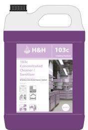 H&H 103C Cleaner/Sanitiser (1:100)  5L