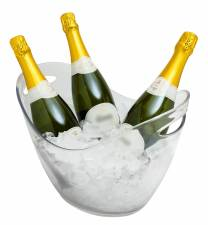 Acrylic Wine/Champagne Bucket with Carry Handles Clear 8L 345x256x253mm 3 Bottles