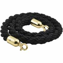 Barrier Rope Black- Brass Plated Ends