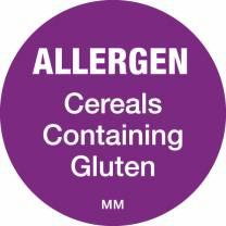 Allergen Label 25mm - Cereals Containing Gluten (x1000)