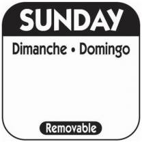 25mm Sunday Removable Day Labels (1000)