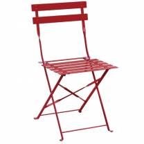Bolero Pavement Style Steel Chairs Red (Pack of 2)