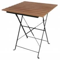 Bolero Square Faux Wood Bistro Folding Table 600mm