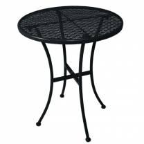 Bolero Steel Patterned Round Bistro Table Black 600mm