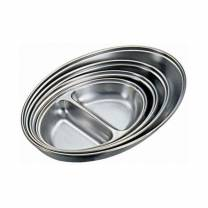 Stainless Steel 2 Div Oval Veg Dish